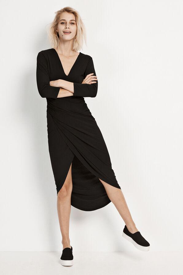 ENCACTUS 3/4 DRESS 5926, BLACK