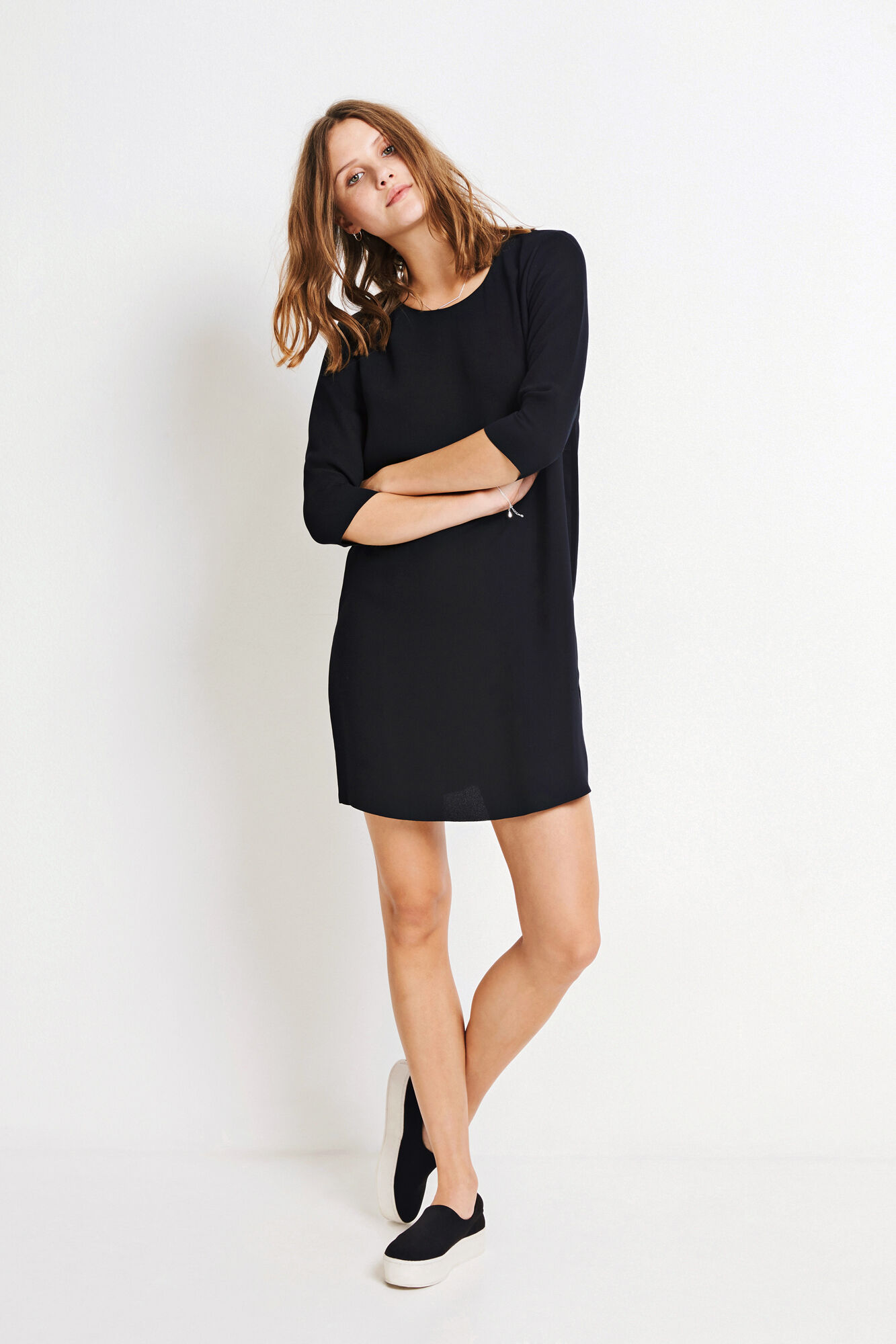 ENCAPRI DRESS 6462, BLACK