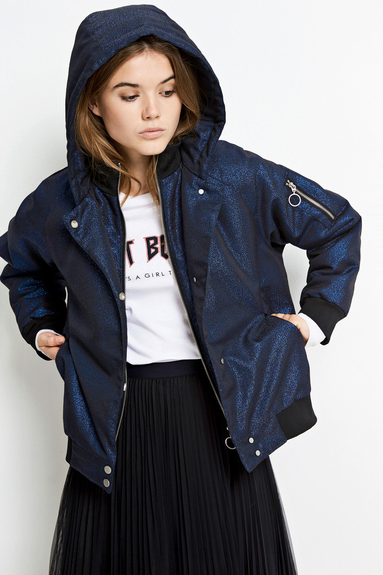 ENCHER JACKET 6479, NAVY GLITTER
