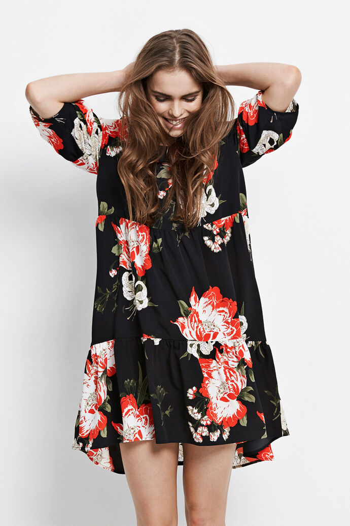 ENMOANA 3/4 DRESS AOP 6460, PUA DARK AOP