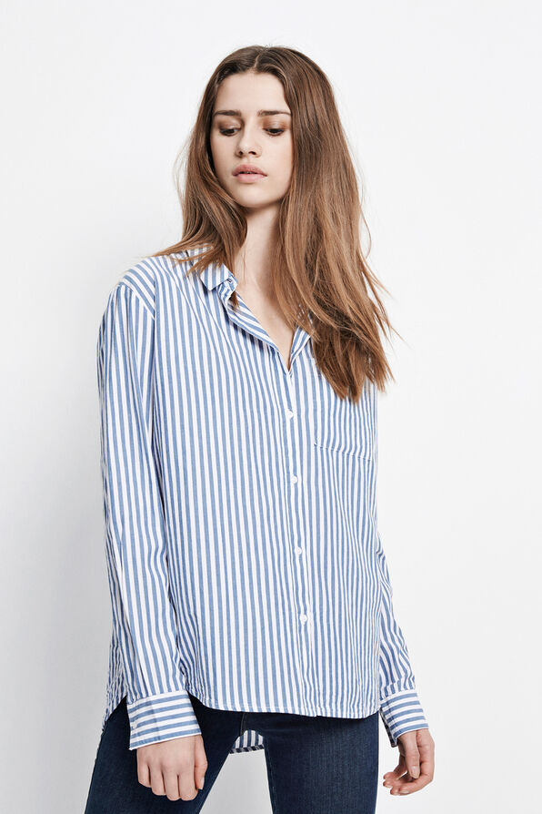 VANEA SHIRT STRIPE 6433, BLUE STRIPE