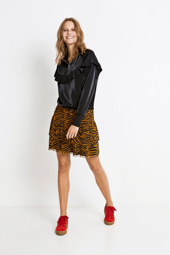 ENRESORT SKIRT AOP 5954, SUDAN BROWN TIGER AOP