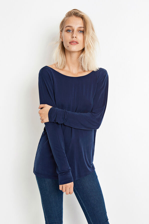 JACOBA LS TEE 5807, MIDNIGHT BLUE