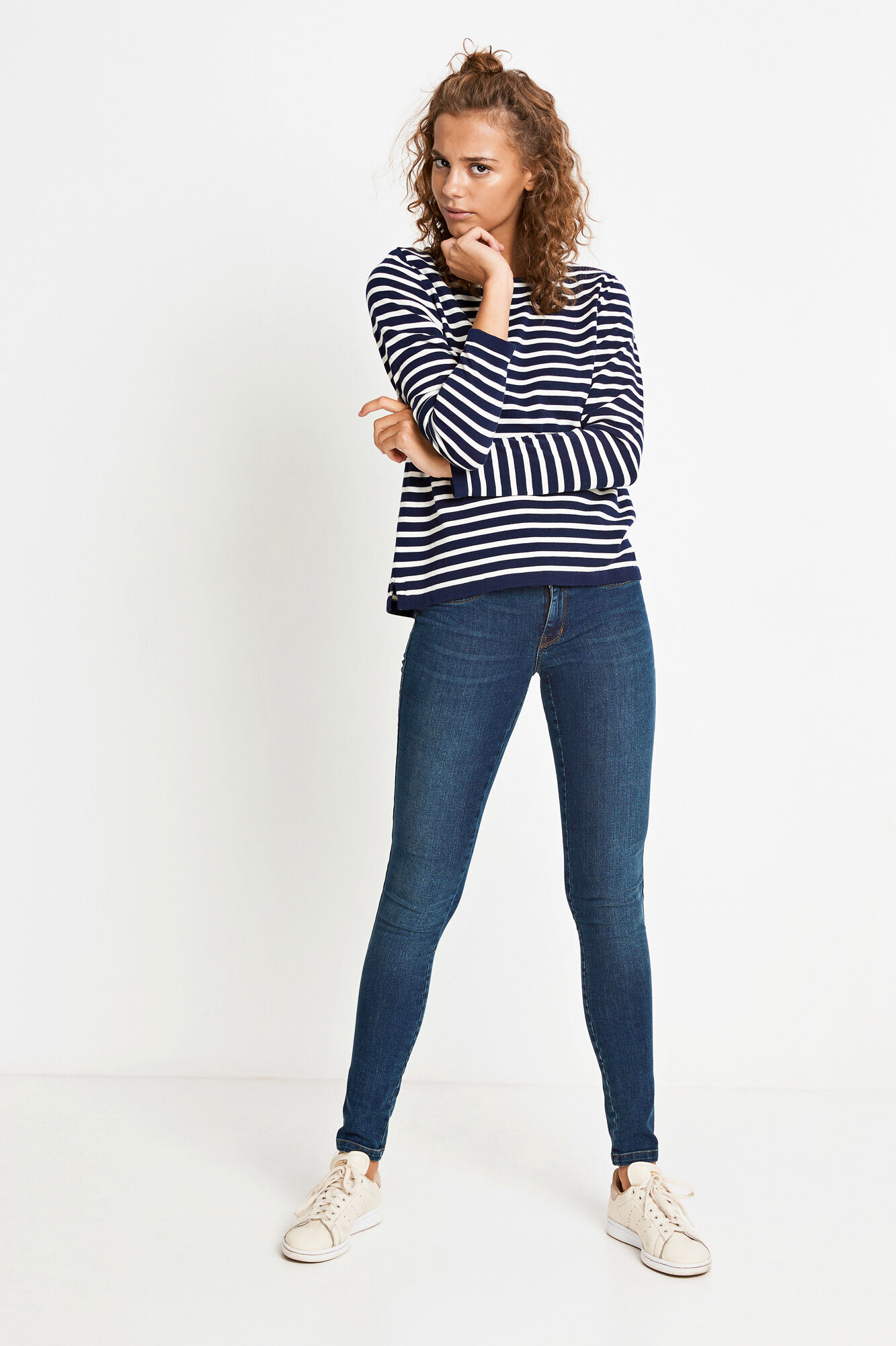 ENNICOSIA KNIT 5073, BLUE IRIS STRIPE
