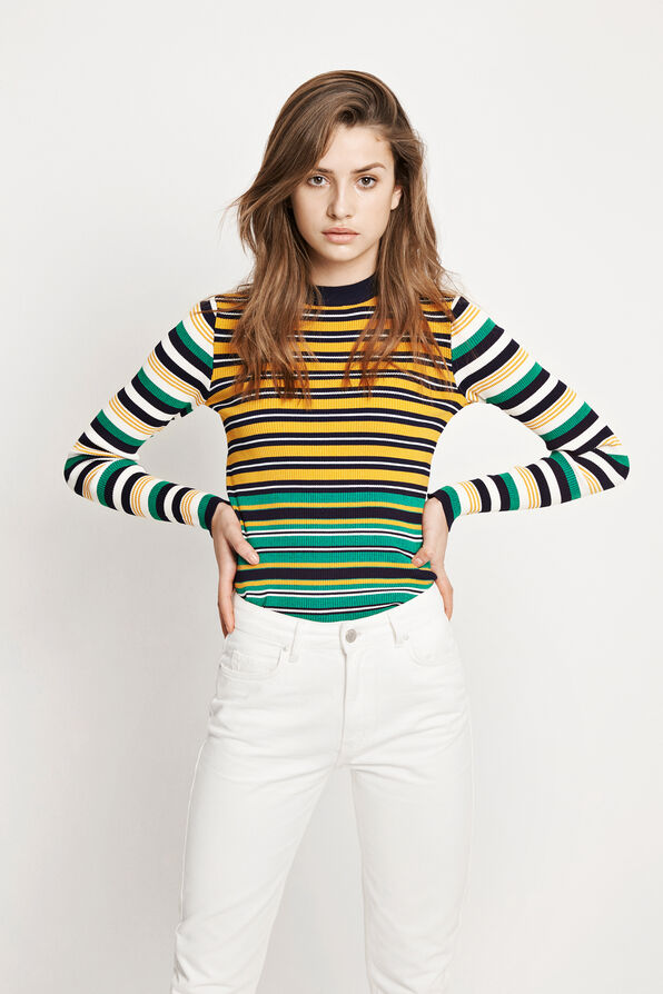 ENPAMPAS LS KNIT 5158, MULTI COLOR STRIPE