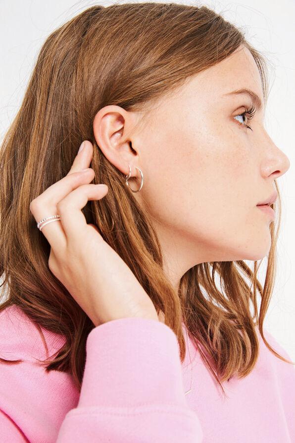 WINDSOR SMALL EARRING, SILVER