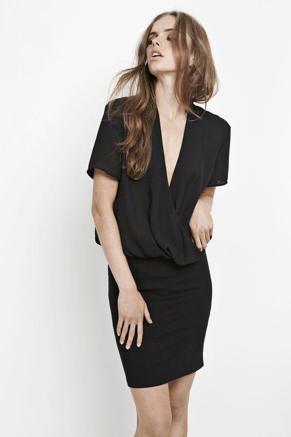 BERMUDA DRESS 6210, BLACK