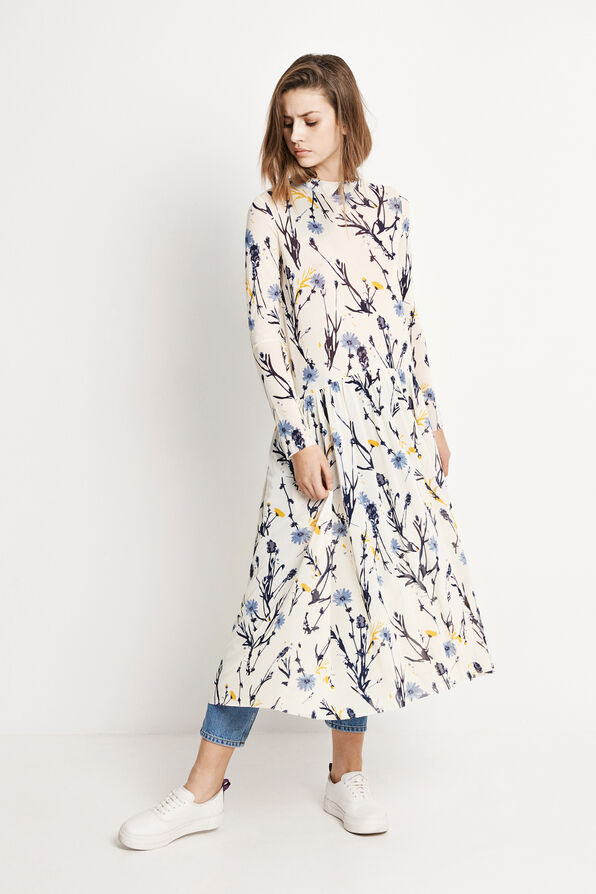 ENSOUTH LS DRESS AOP 5911, MEADOW AOP