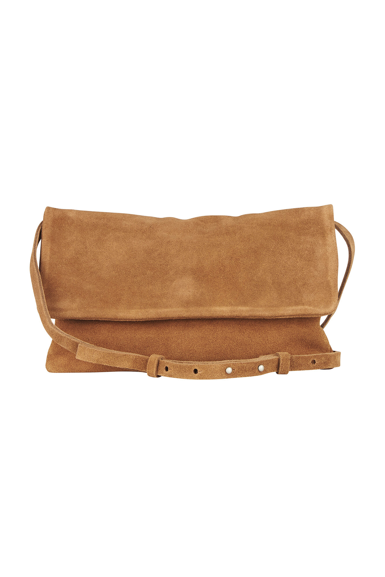 WILFRED SUEDE CLUTCH 5602, COGNAC BROWN