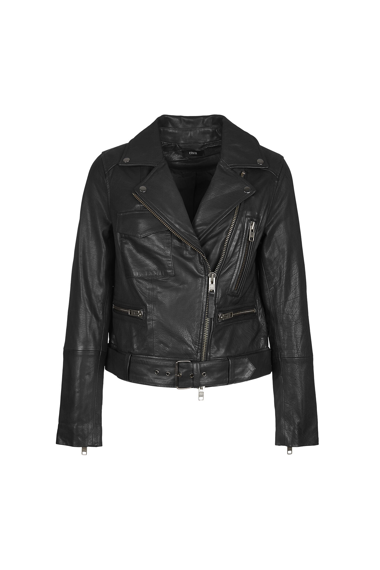 KARLIE LEATHER JACKET 6178, BLACK