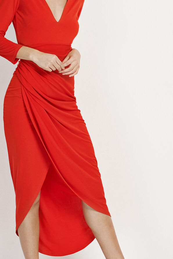 ENCACTUS 3/4 DRESS 5926, HOLIDAY RED