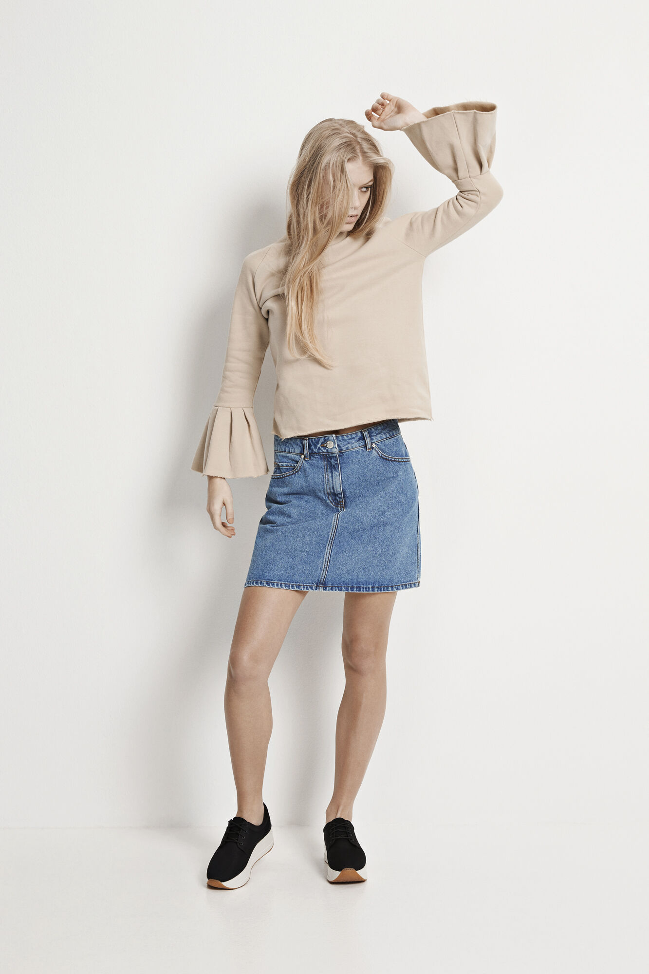 ENRIDER DENIM SKIRT 6436, 90S MID BLUE