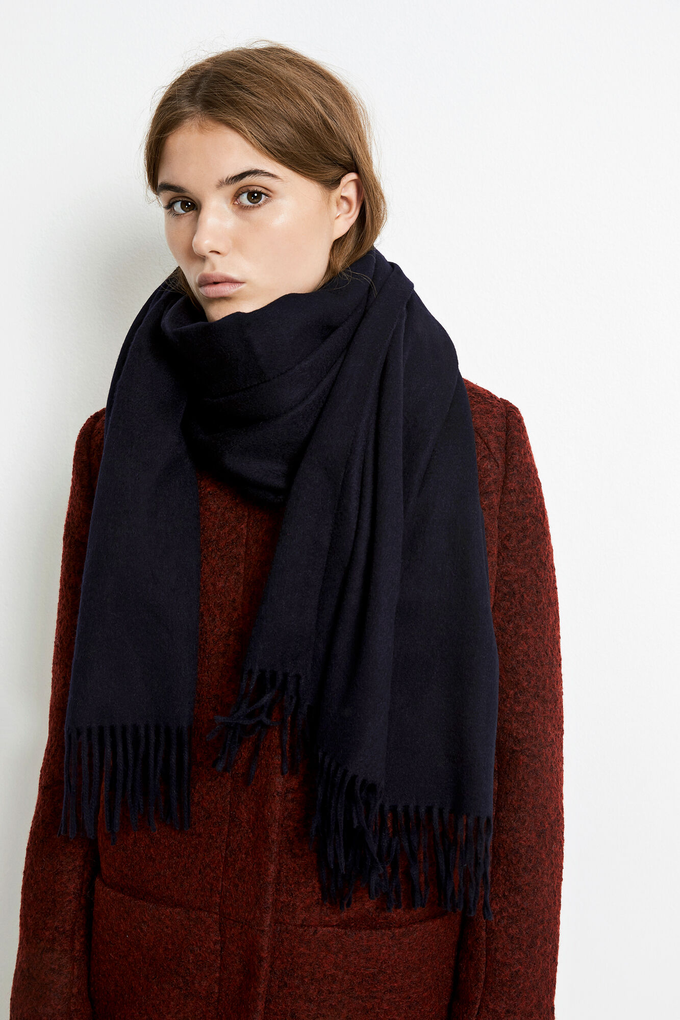 ENNEW WOOL SCARF, BLACK