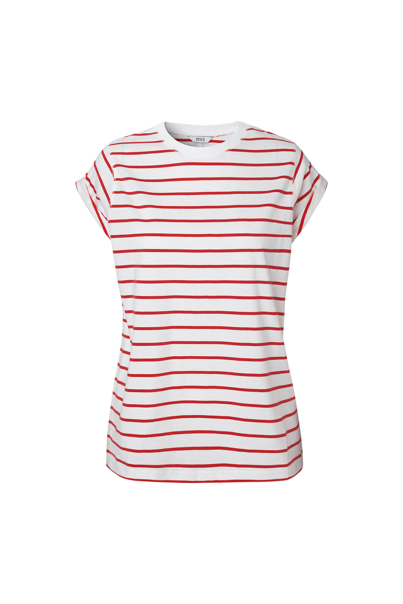 ENANDY TEE STRIPE 5915, RED-WHITE STRIPE