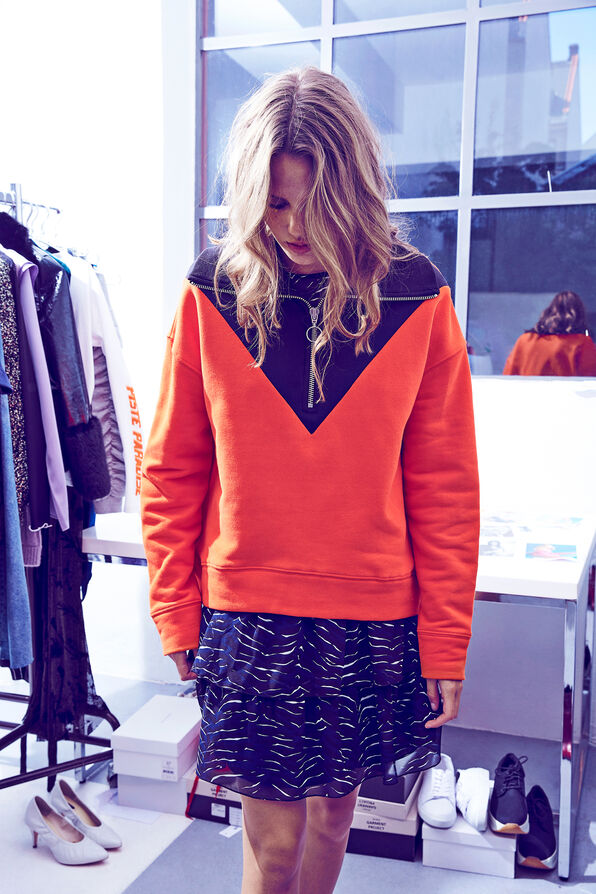ENSLEIGH LS ZIP SWEAT 5899, ORANGE.COM