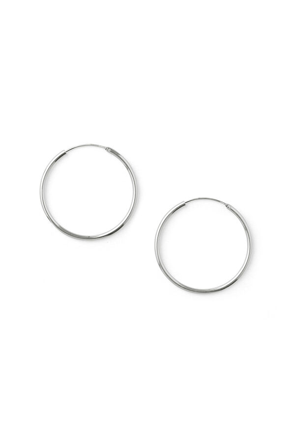 WILLY MEDIUM EARRING, SILVER