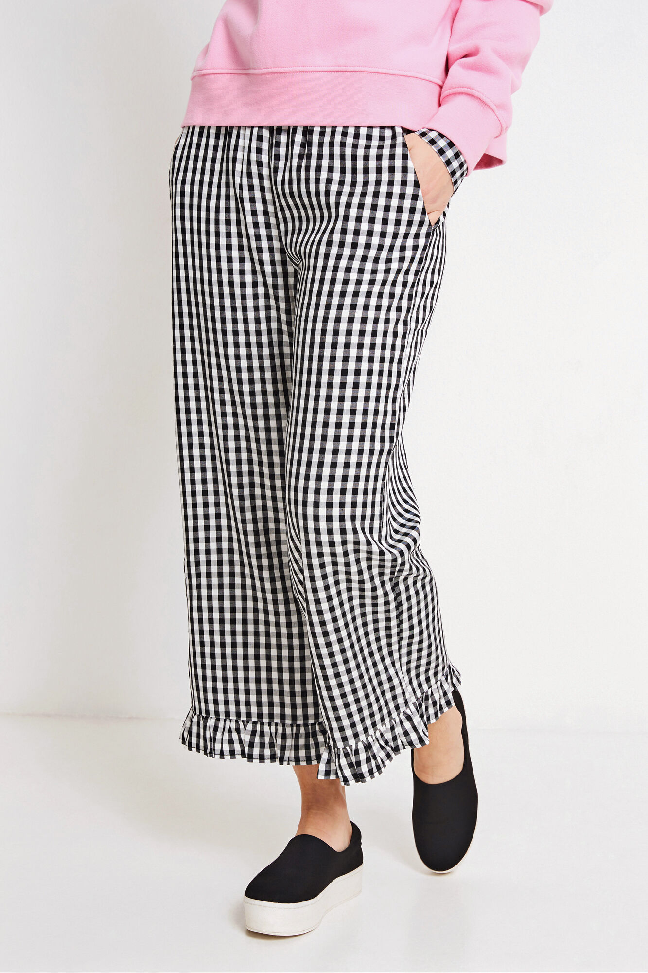 ENSATELLITE PANTS 6473, GINGHAM CHECK
