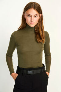 ENVILLY LS T-N TEE 5317, OLIVE NIGHT