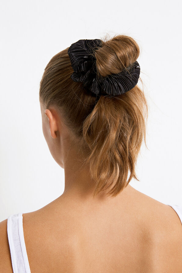 ENWELLY SCRUNCHIE AOP 5942, BLACK SILVER DOT AOP