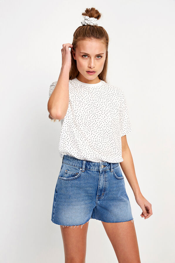 ENDAKAR SS TOP AOP 6605, CREAM DOT AOP