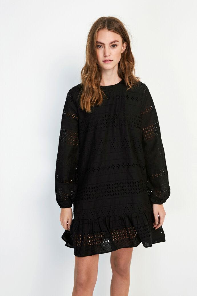 ENCHRIS O-NECK DRESS 6695, BLACK