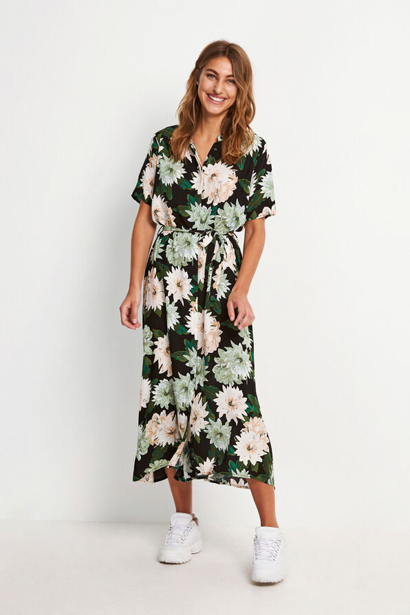 ENTRIBE SS DRESS AOP 6601
