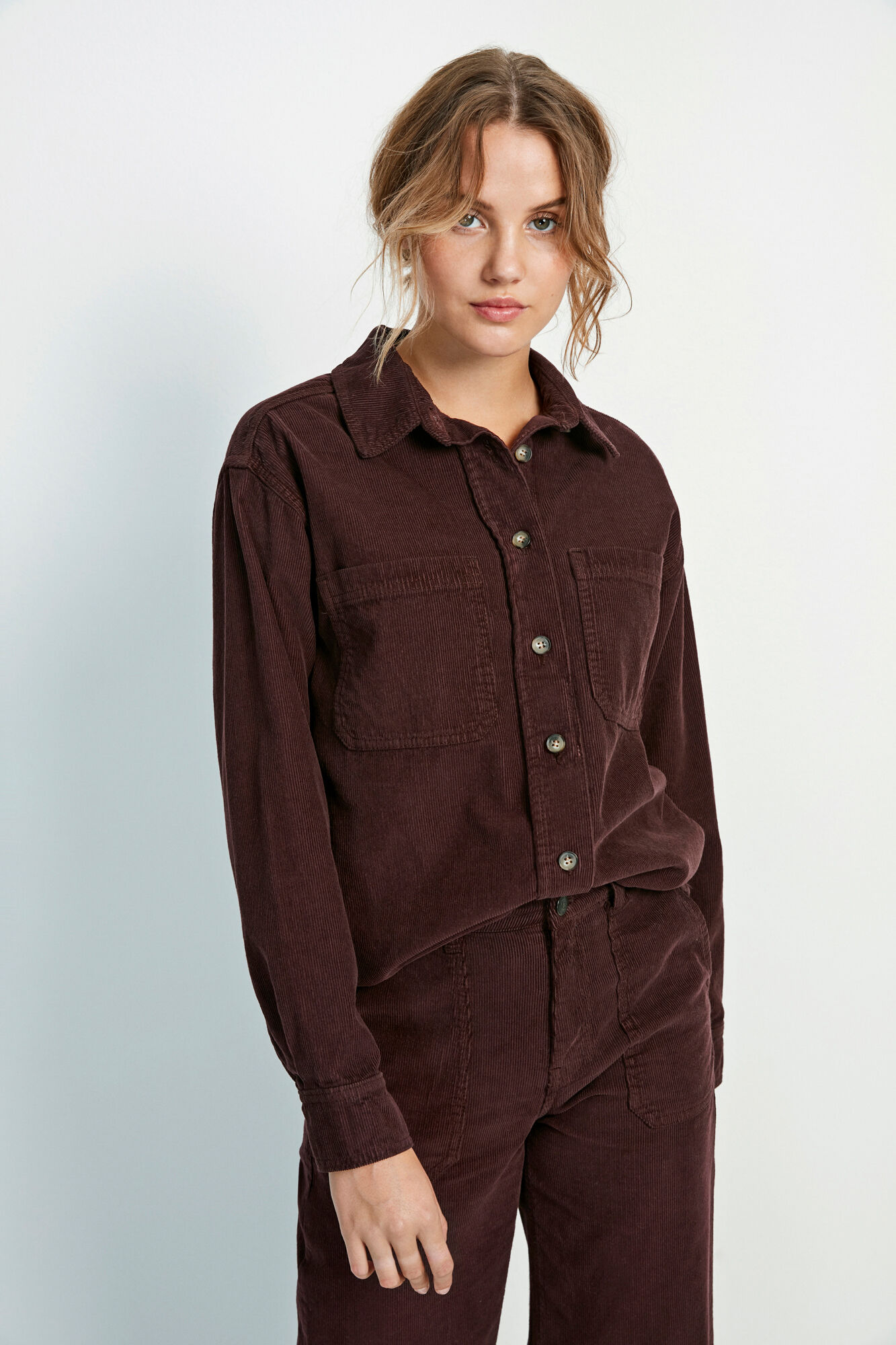 ENALASKA LS SHIRT 6641, FUDGE