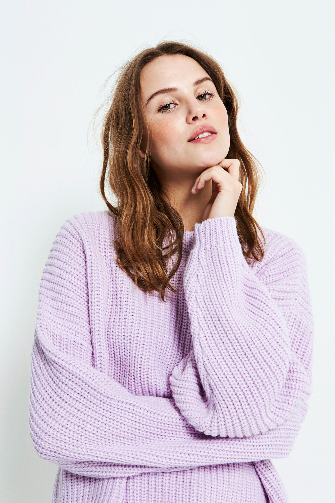 ENDIEGO LS KNIT 5188, FROSTY LILAC