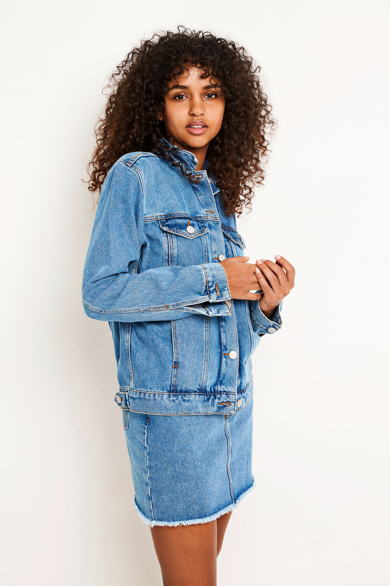 ENSETTLER DENIM JACKET 6524, 90S MID BLUE