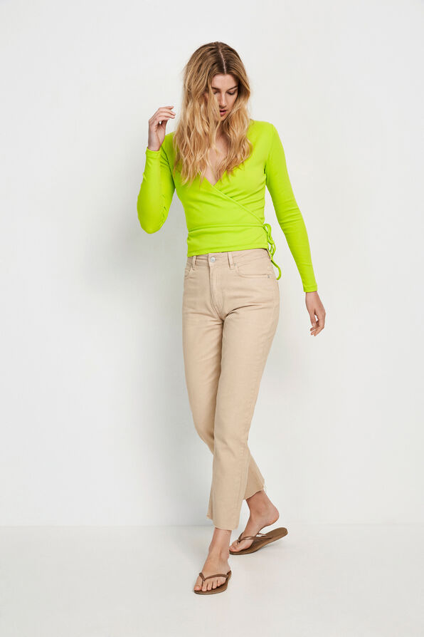 ENALLY LS V-N TEE 5314, LIME PUNCH
