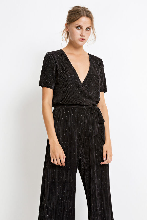 ENDEGREE SS JUMPSUIT AOP 5942, BLACK SILVER DOT AOP