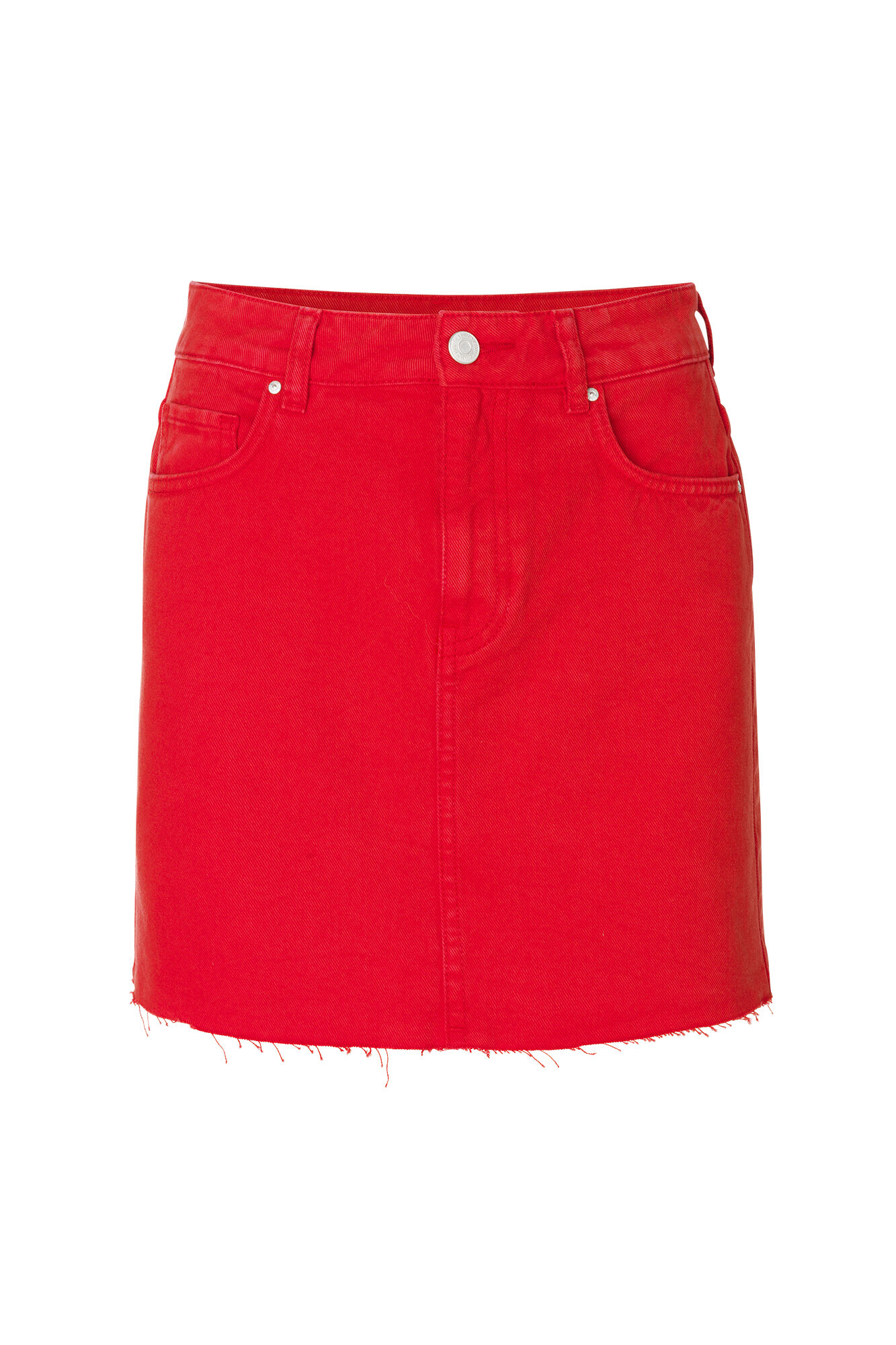 ENPINATA DENIM SKIRT 6522, CANDY RED