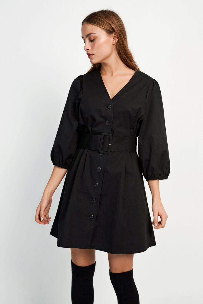 ENDENA 3/4 DRESS 6712, BLACK