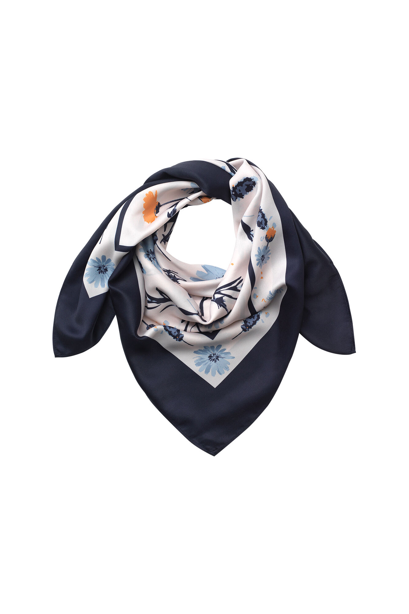 ENMEADOW SCARF 6010, NEW NAVY MEADOW