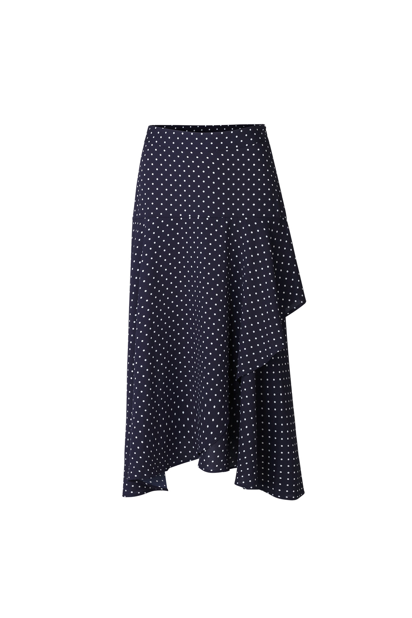 ENGUM SKIRT AOP 6508, NAVY DOT SMALL