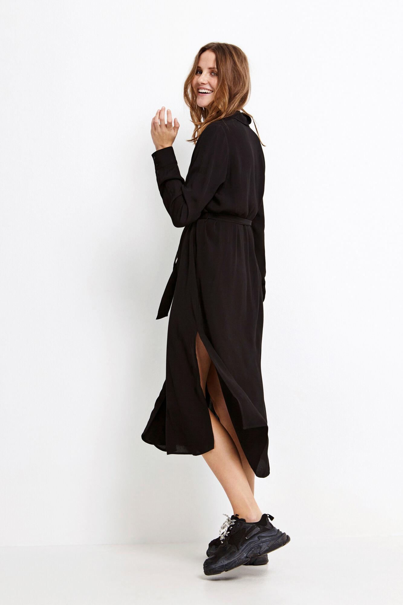 ENDATE LS DRESS 6257, BLACK