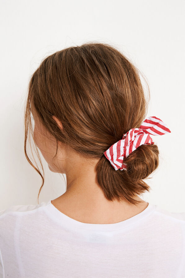 ENFLAKE SCRUNCHIE 6433, RED-WHITE ST