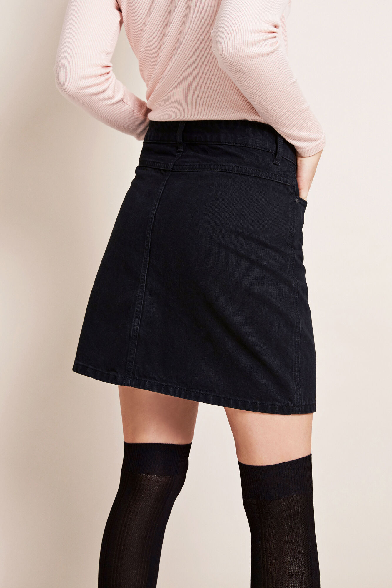 ENRIDER DENIM SKIRT WORN BLACK 6356