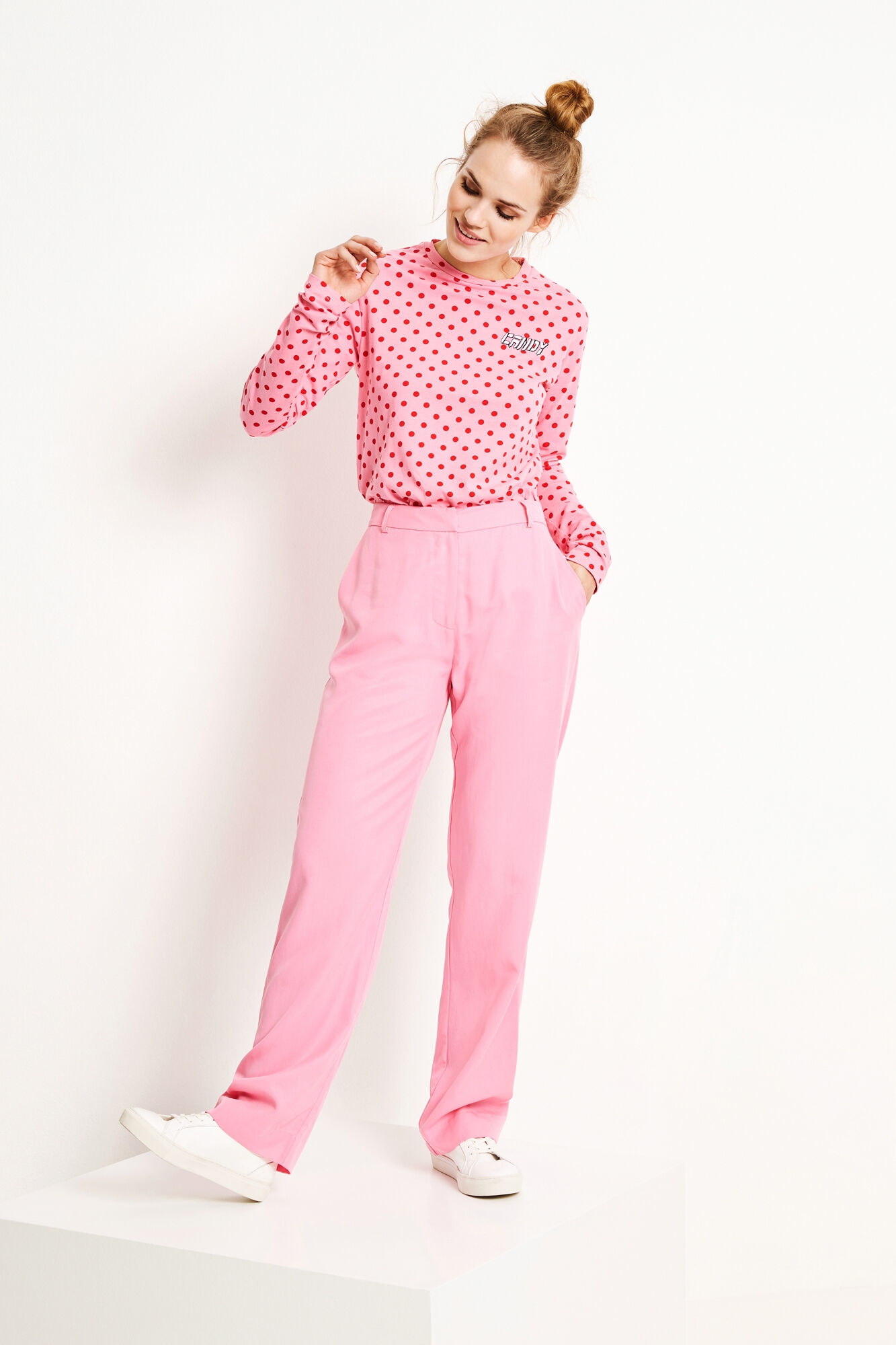 ENMOTO LS TEE AOP CANDY 5901, PINK DOT BIG