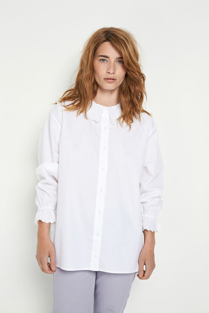ENSANDY LS SHIRT 6709, WHITE