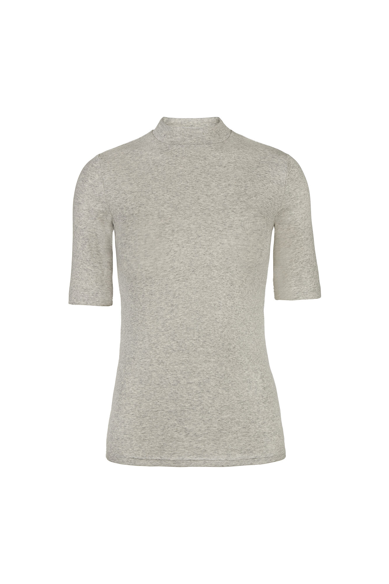 ALLY SS T-NECK 5814, LIGHT GREY MEL.