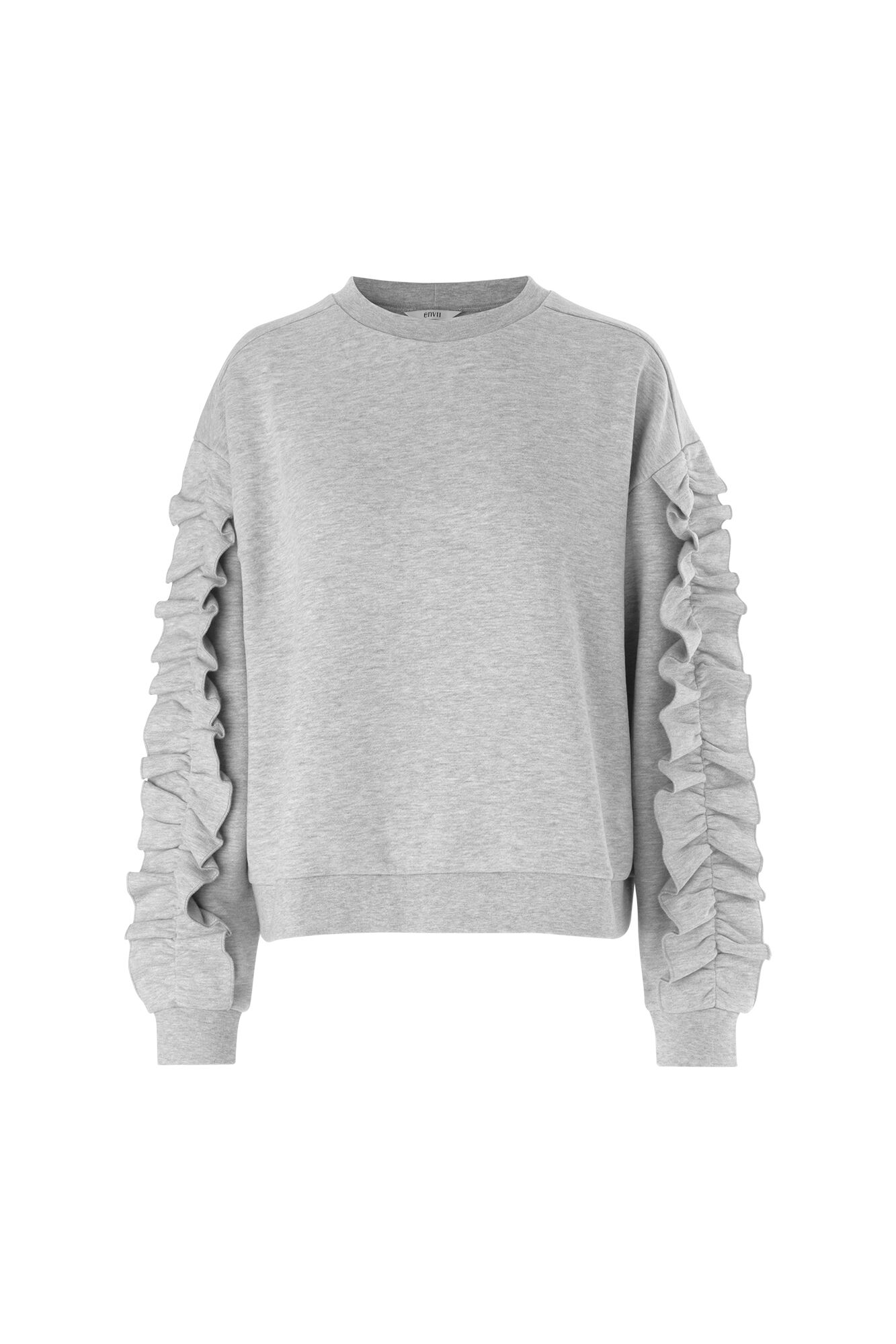ENSLALOM LS SWEAT 5955, GREY MEL.
