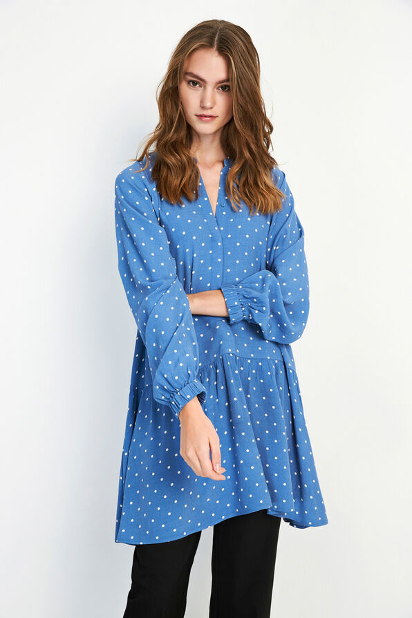 ENART LS DRESS AOP 6651, RIVERSIDE DOT