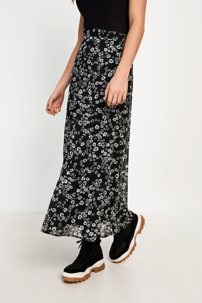 ENDELINA SKIRT AOP 6687, NIGHT FALL
