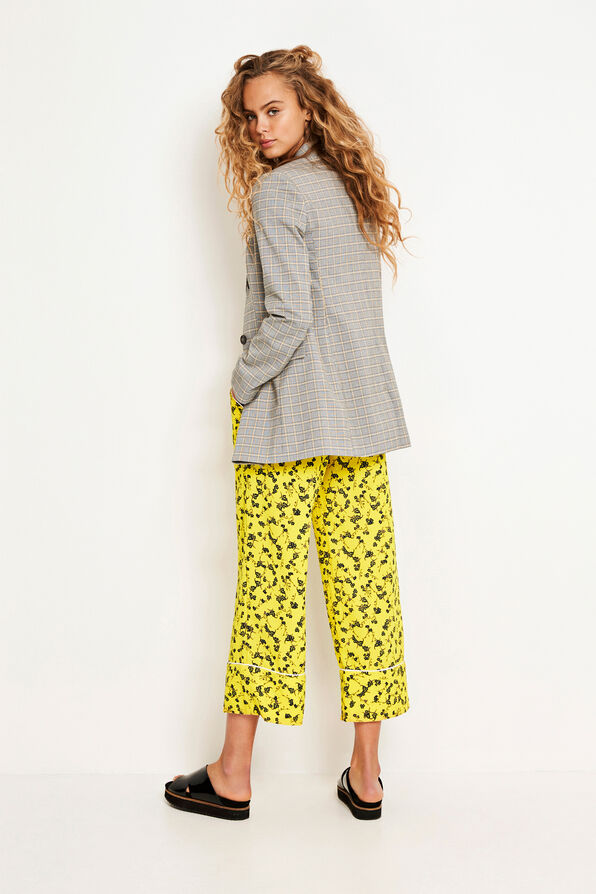 ENSOUK PANTS AOP 6527, YELLOW BLOOM AOP