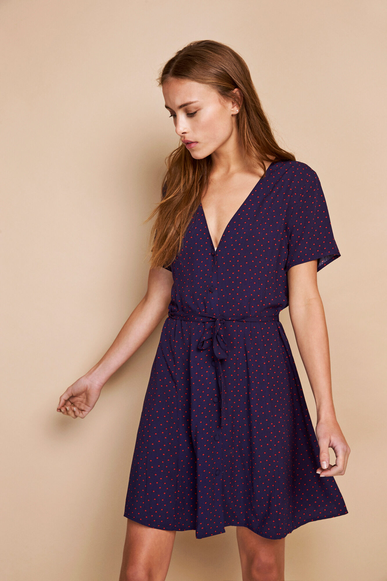 ENFAIRFAX SS DRESS AOP 6601