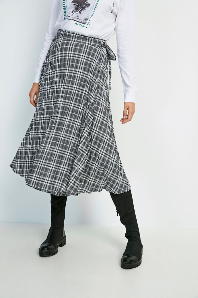 ENFULLERTON SKIRT 6672, B/W CHECK