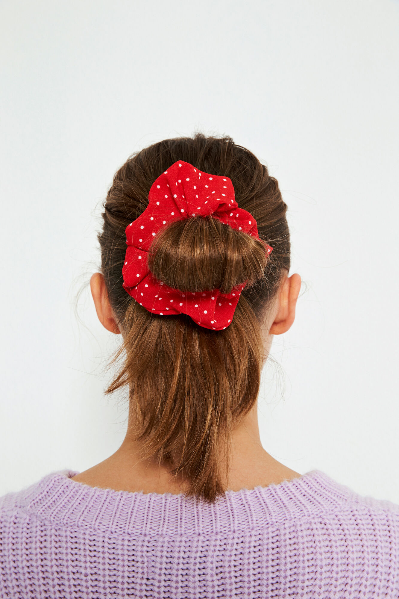 ENWELLY SCRUNCHIE AOP 6444, LATIN DOT AOP