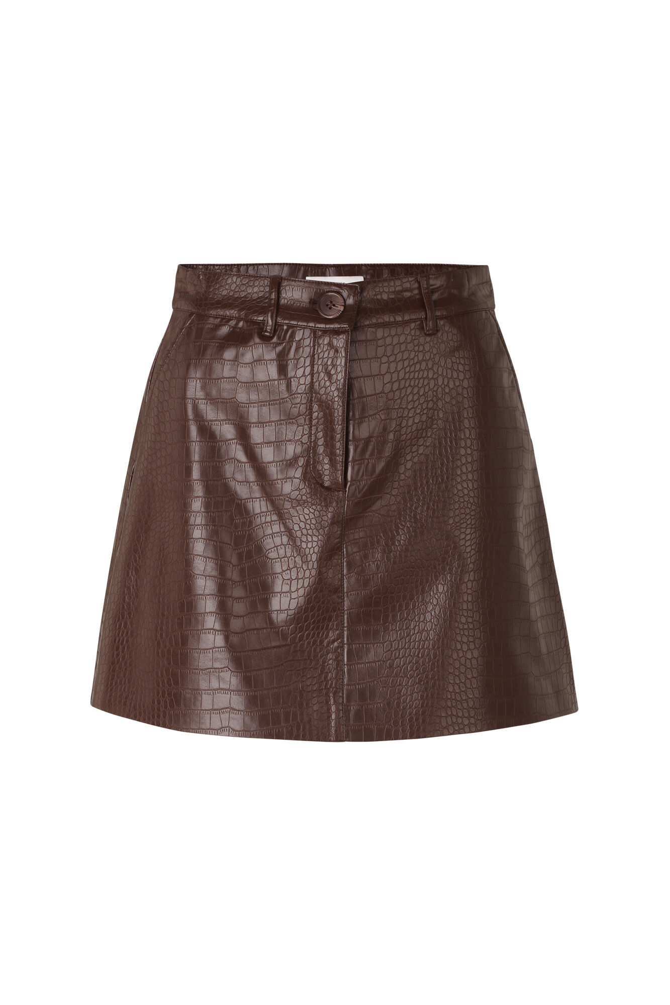 ENWILLOW SKIRT 6656, BROWN CROCO