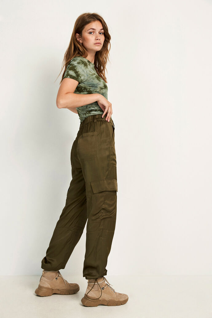 ENVINDEL PANTS 6652, OLIVE NIGHT